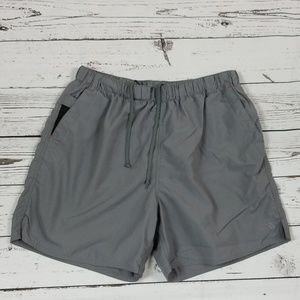 The North Face Men Gray Athletic Shorts